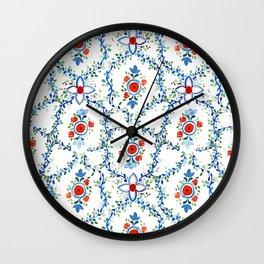 Thai Tile Pattern Wall Clock