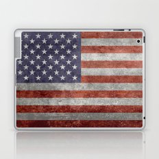 Flag of the United States of America in Retro Grunge Laptop & iPad Skin