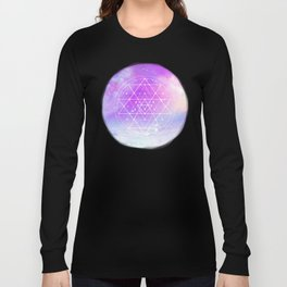 Sacred Geometry (Sri Yantra) Long Sleeve T-shirt
