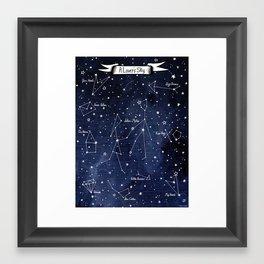 A Lover's  Sky / Constellations & Stars Framed Art Print
