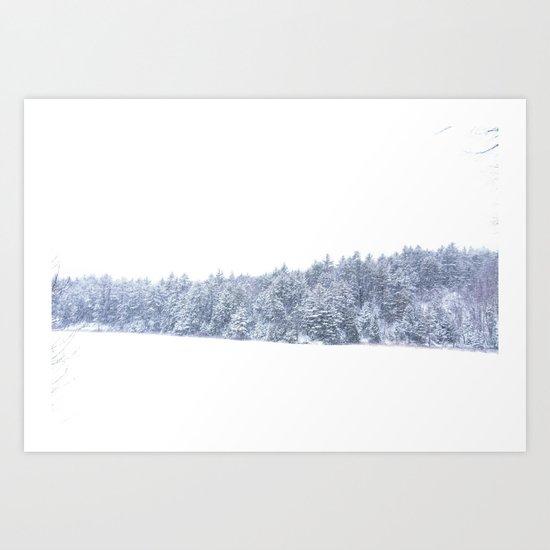 Snow Squall  Art Print