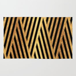 Gold and Black Rug