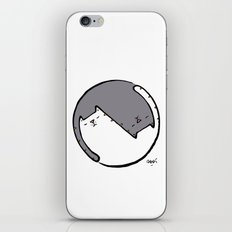 yin yang cat BW iPhone & iPod Skin