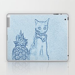 The Cat and the Pineapple - in Blue Laptop & iPad Skin