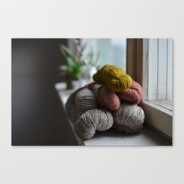 Yarn stash Canvas Print