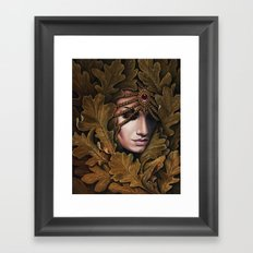 Mabon - goddess of fall Framed Art Print