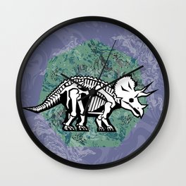 Triceratops Fossil Wall Clock