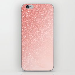 She Sparkles Deep Rose Gold Pastel Pink Luxe Geometric iPhone Skin