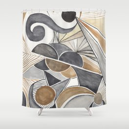 At dawn - horizon Shower Curtain