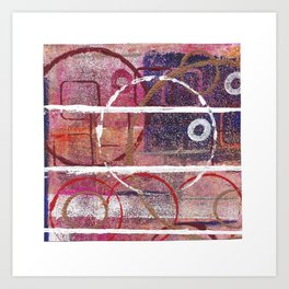 Lines, Circles And Squares, OH MY! 1 Top Square Art Print