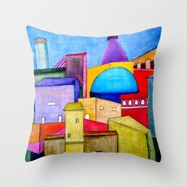 La Ciudad Alegre Throw Pillow