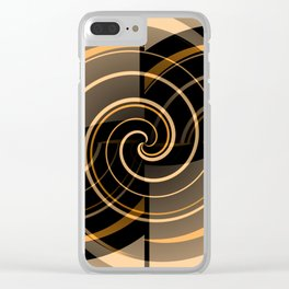 Caramel & Licorice Fudge Clear iPhone Case