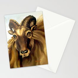 Tahr Portrait Stationery Cards