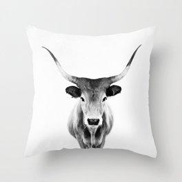 Honey - black and white Throw Pillow