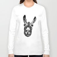 donkey Long Sleeve T-shirts featuring Wonky Donkey  by Yann Thompson