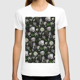 Midnight Garden Moody Florals  T-shirt