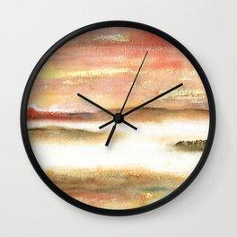 Abstract Landscape Watercolor Art Wall Clock
