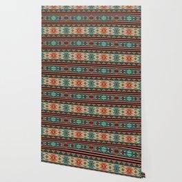 Southwest Design Turquoise Terracotta Wallpaper