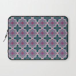 Floral ornamet tile Laptop Sleeve