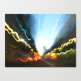 Abstract Downtown Flow - Light Painting Canvas Print