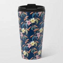 Lily pattern Travel Mug