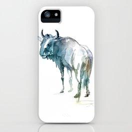 Wildebeest / Abstract animal portrait. iPhone Case