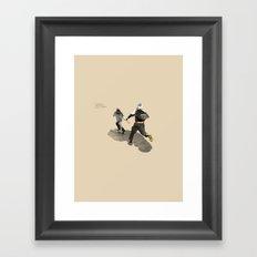 Aludd: Running Away! Framed Art Print
