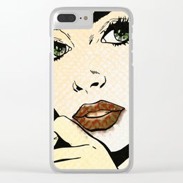 Pop Art Clear iPhone Case