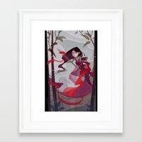 mulan Framed Art Prints featuring Mulan by Ann Marcellino