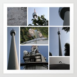 Stuttgart TV Tower Art Print