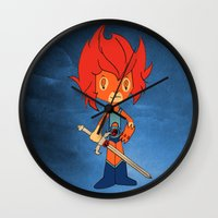 thundercats Wall Clocks featuring Lion-o by Christophe Chiozzi