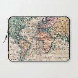 Vintage World Map 1801 Laptop Sleeve