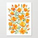 Watercolor California poppies by blursbyaishop