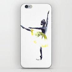 Dancer in yellow iPhone & iPod Skin