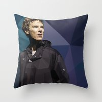 hamlet Throw Pillows featuring Benedict Cumberbatch - Hamlet Barbican by khitkhat