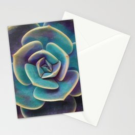 Purple & Blue Succulent Stationery Cards