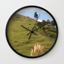 Grass Wall Clock