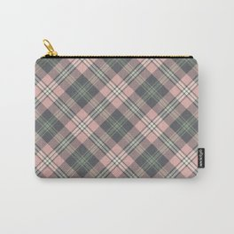 Pink and Gray Plaid Pattern Carry-All Pouch