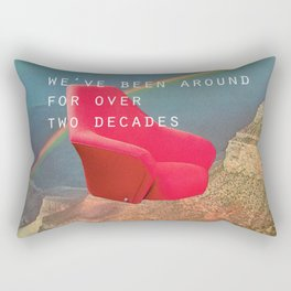 We've been around for over two decades (Red chair and the Grand Canyon) Rectangular Pillow