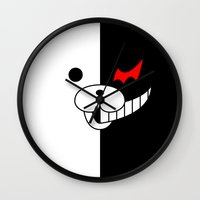 dangan ronpa Wall Clocks featuring Monobear by Prince Of Darkness