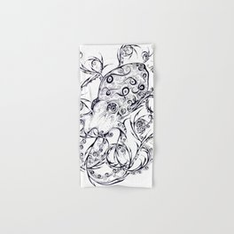 Calligraphy Octopus Hand & Bath Towel
