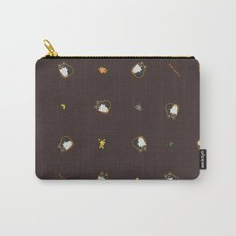 Black Shiba Pattern Carry-All Pouch