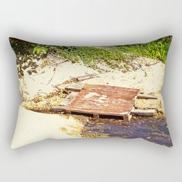 Rustic temporary bridge Rectangular Pillow
