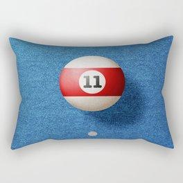 BALLS / Pool Billiard (eleven) Rectangular Pillow