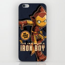 THE INVINCIBLE IRON BOY iPhone Skin