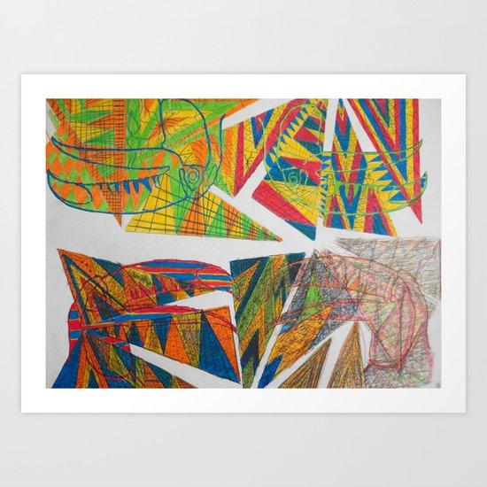 Decay of Tucan Art Print