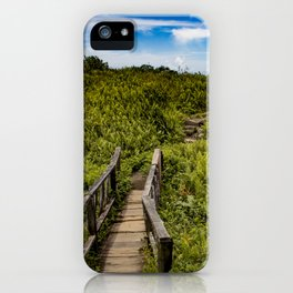 Beautiful Wooden Bridge Leading up to a Lake View on top of Mombacho Volcano, Nicaragua iPhone Case
