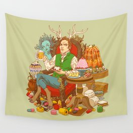 Gelatin God: Hydrocolloid Pantheon Wall Tapestry