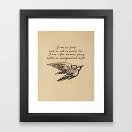 Jane Eyre - No bird - Bronte Framed Art Print