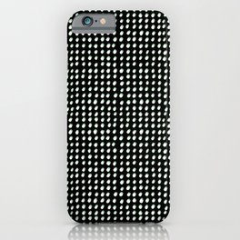 Dots (Shadowed) - White x Sage iPhone Case